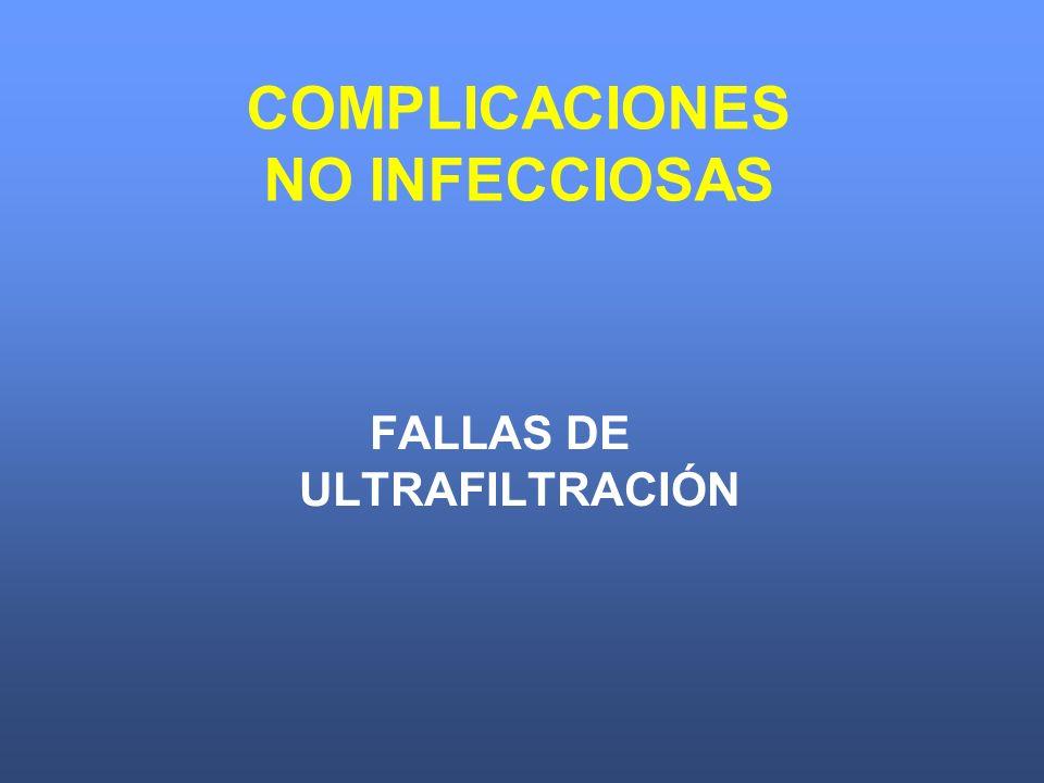 FALLAS DE ULTRAFILTRACIÓN COMPLICACIONES NO INFECCIOSAS