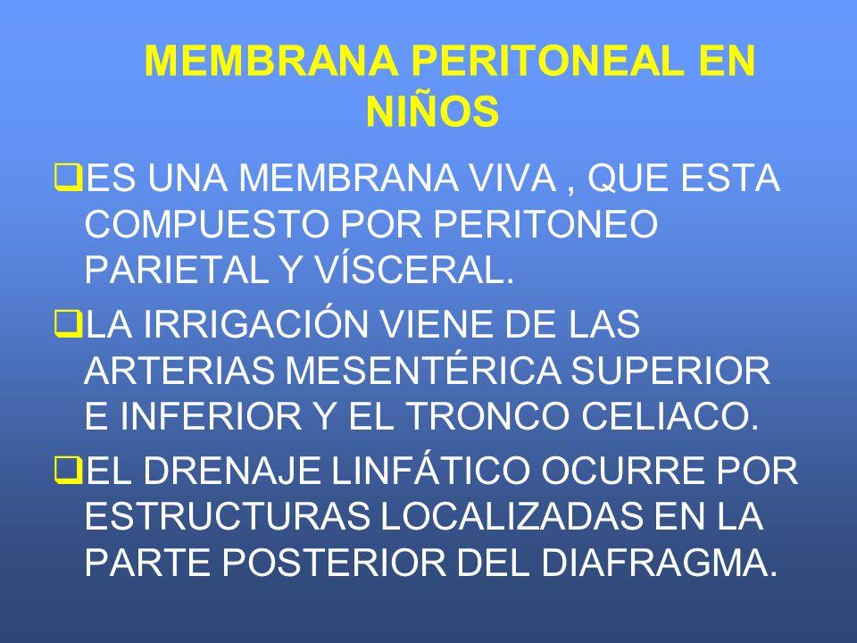 INCIDENCIA UN EPISODIO CADA 25-35 PACIENTES/MES EN DPCA.