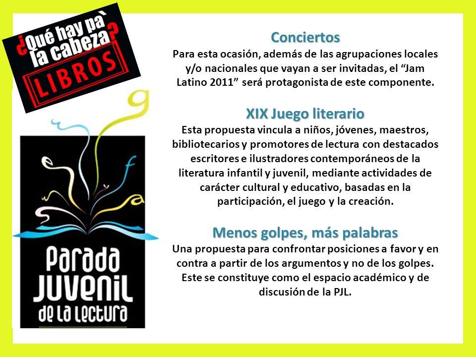 Conciertos Para esta ocasión, además de las agrupaciones locales y/o nacionales que vayan a ser invitadas, el Jam Latino 2011 será protagonista de este componente.
