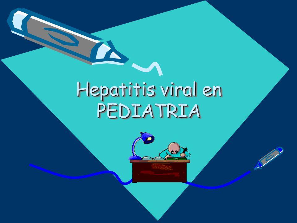 Hepatitis viral en PEDIATRIA