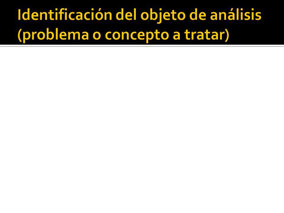 (a) Orientación (1) Especifica cuál será el tópico que vas a discutir (2) Reporta lo que han pensado otros investigadores sobre el tópico (b) Escribe la tesis particular que vas a probar (1) Reporta quiénes han sostenida la misma (o semejante) posición.