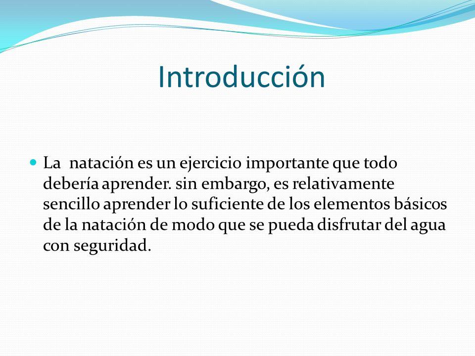 Introducción La natación es un ejercicio importante que todo debería aprender.