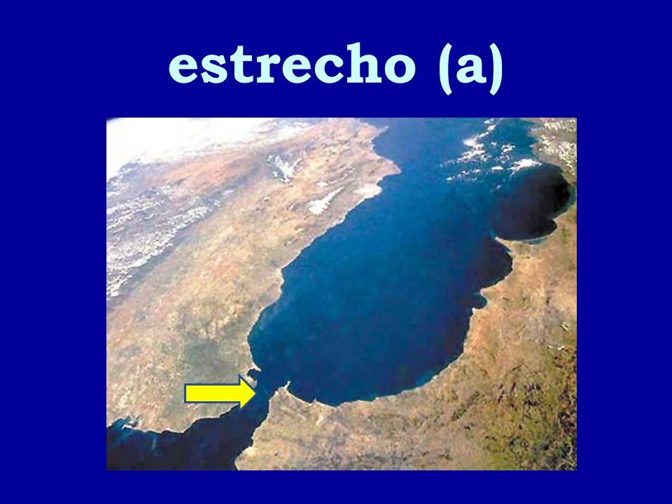 estrecho (a)