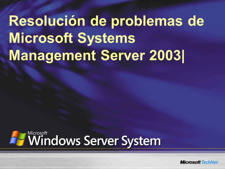 Problemas con el bloqueo de IIS Utilizar el bloqueo de IIS o URLScan puede provocar que su Punto de administración falle Utilice los archivos de configuración preconstruidos: Archivo de configuración de Bloqueo IIS para SMS 2003 Archivo de configuración URLScan.ini para IIS 6.0 Ambos archivos están disponibles en el Kit de herramientas 2 de SMS 2003