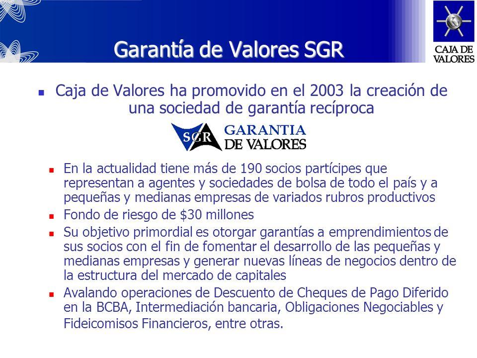 Algunos de nuestros logros 2004-05 CAJA DE VALORES SA: agente de clearing principal en el Canje de Deuda Pública más importante de la historia En cuan