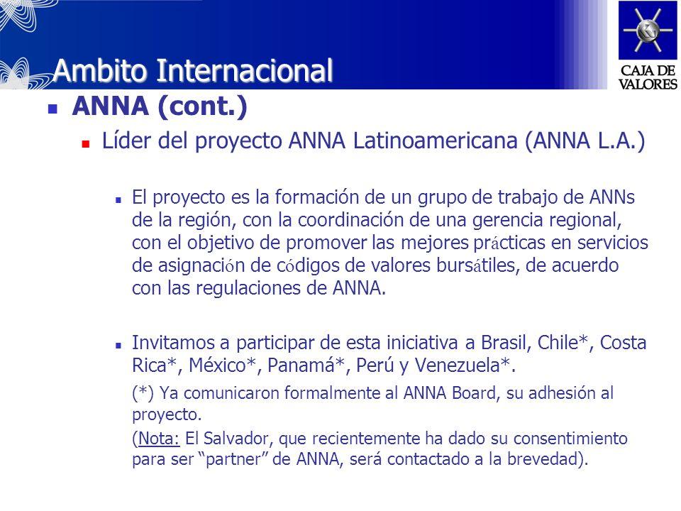 Ambito Internacional ANNA Asistencia a Asambleas Asamblea Extraordinaria, Túnez – Diciembre 2004, con poderes delegados de Chile y Panamá. Asamblea Or