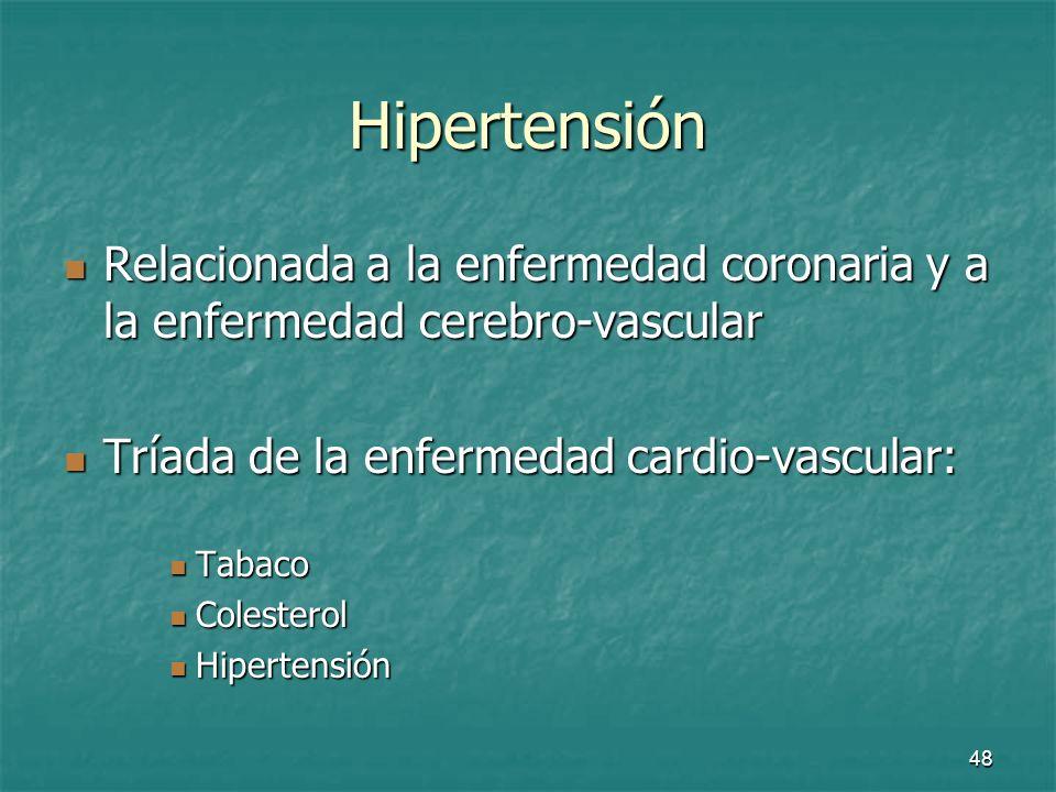 49 Hipertensión Factores que influyen en la presión arterial: Factores que influyen en la presión arterial: Edad Edad Sexo Sexo Raza Raza Ejercicio Ejercicio temperatura temperatura