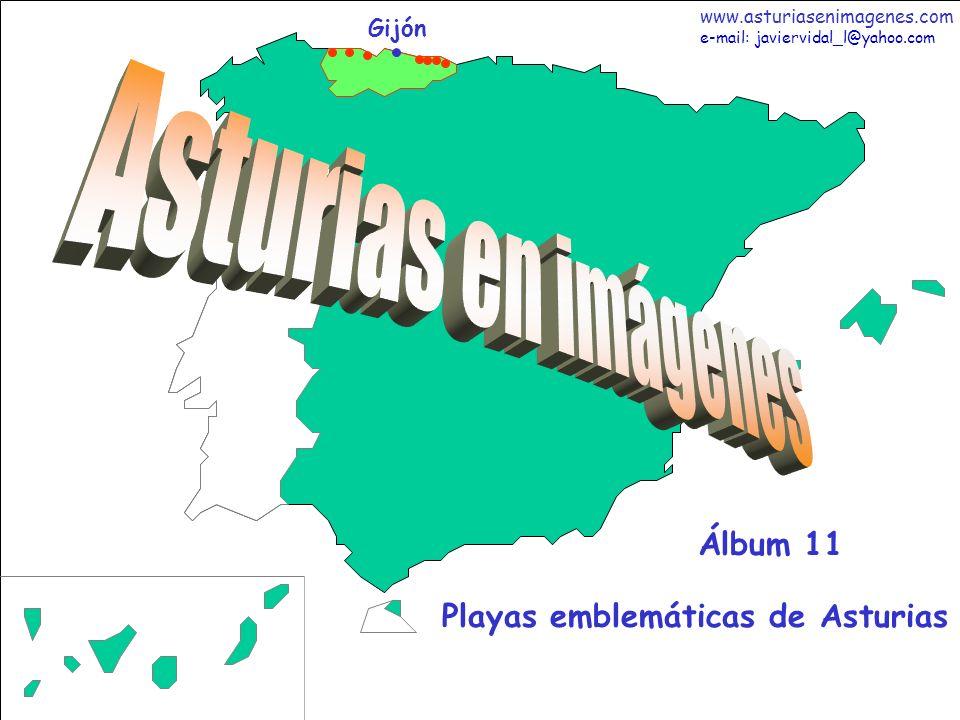 2 Asturias - Álbum 11 Fotografías: Javier Vidal http: asturiasenimagenes.com El color del agua y de la arena en la playa de Cuevas del Mar (Nueva de Llanes), no parecen naturales sino sacados de la postal de una playa caribeña, y a tan sólo 37 de Gijón.