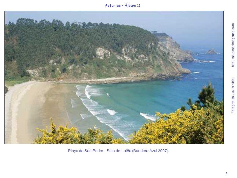 11 Asturias - Álbum 11 Fotografías: Javier Vidal http: asturiasenimagenes.com Playa de San Pedro - Soto de Luiña (Bandera Azul 2007).