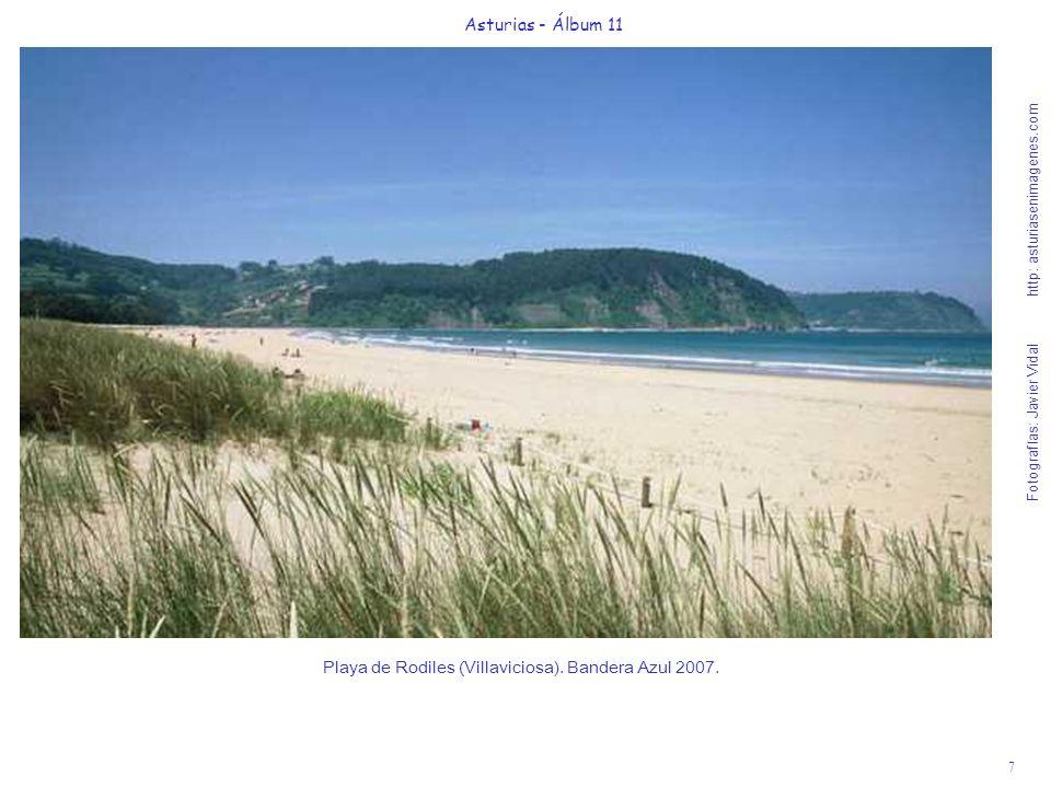 8 Asturias - Álbum 11 Fotografías: Javier Vidal http: asturiasenimagenes.com Playa de Salinas y Museo de Anclas de Philippe Cousteau, vistas desde el Rest.