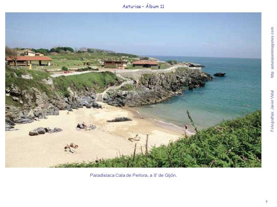 10 Asturias - Álbum 11 Fotografías: Javier Vidal http: asturiasenimagenes.com Para acceder a la playa del Silencio, a 55 de Gijón, deben desviarse 12 km después de Cudillero, dirección a Luarca (N-632) en la salida Sta.