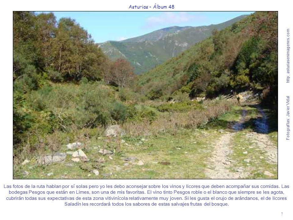 8 Asturias - Álbum 48 Fotografías: Javier Vidal http: asturiasenimagenes.com Otra ruta clásica de dificultad media y 4 horas de caminata más exigente, ya que hay que salvar un desnivel de casi 700 m.