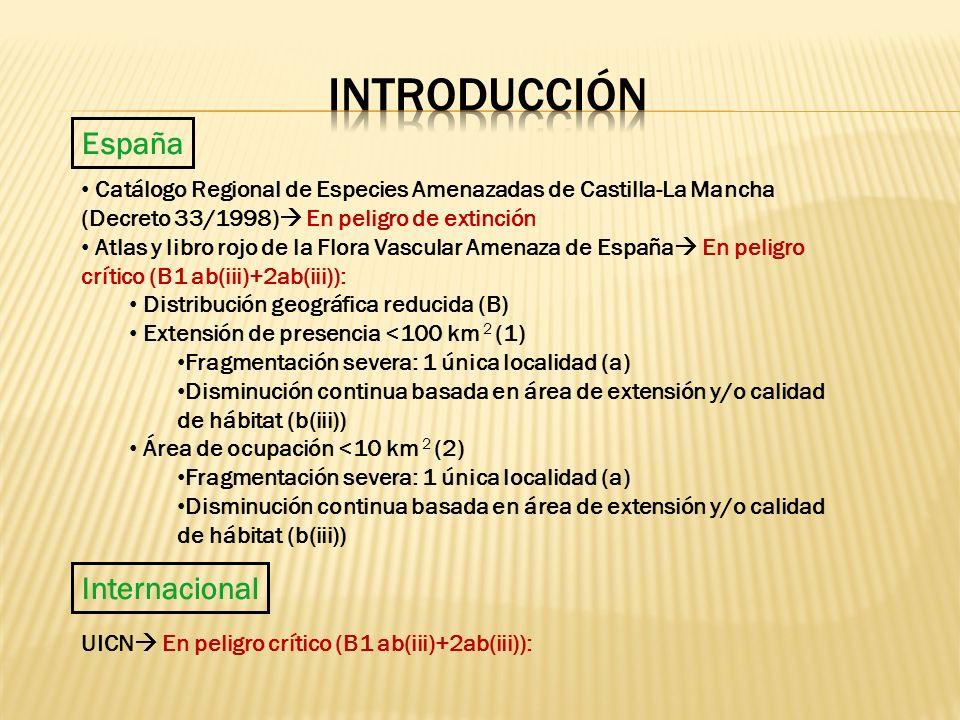España Internacional Catálogo Regional de Especies Amenazadas de Castilla-La Mancha (Decreto 33/1998) En peligro de extinción Atlas y libro rojo de la