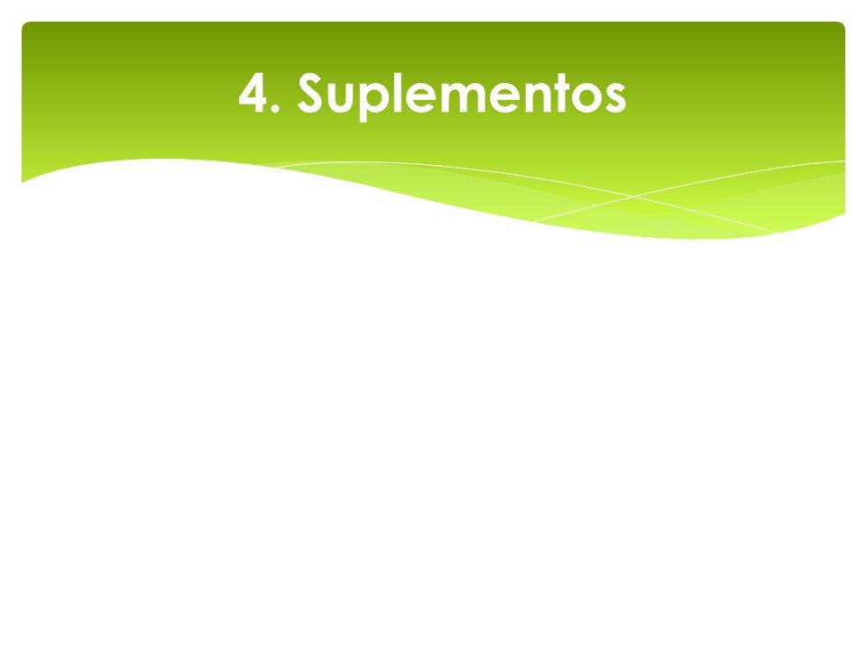 4. Suplementos