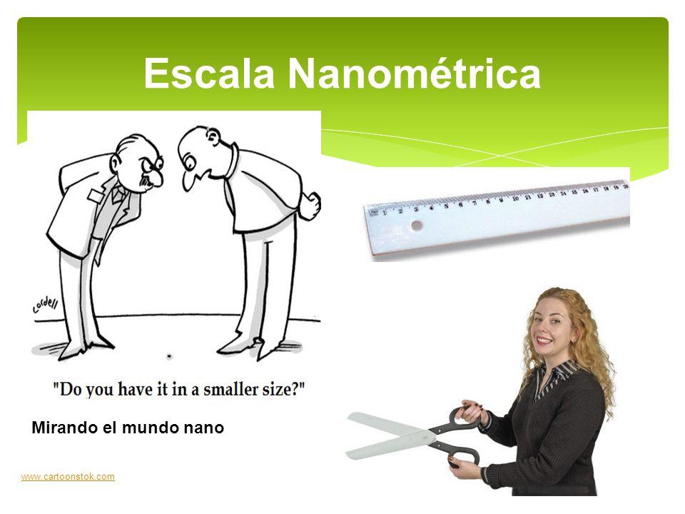 Escala Nanométrica www.cartoonstok.com Mirando el mundo nano