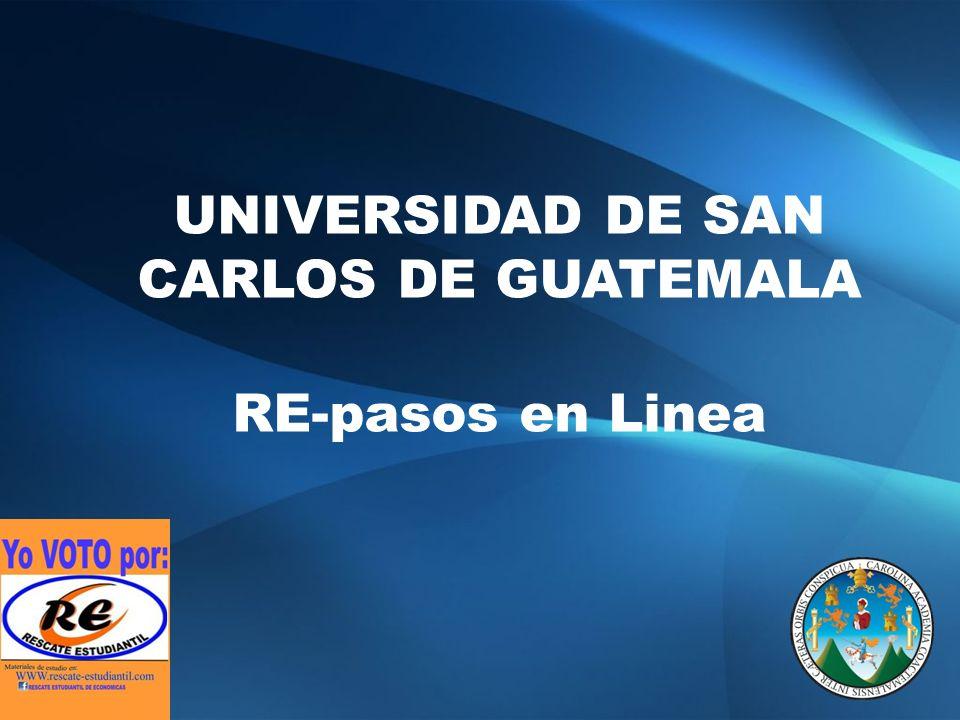 UNIVERSIDAD DE SAN CARLOS DE GUATEMALA RE-pasos en Linea