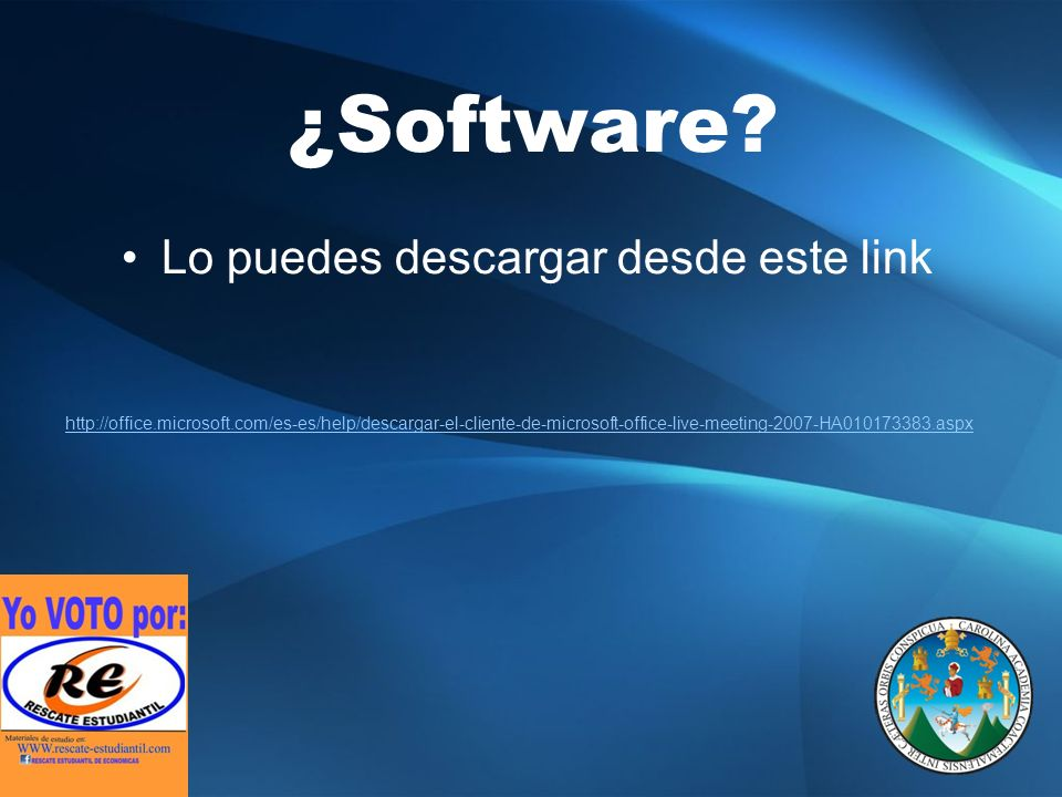 ¿Software.