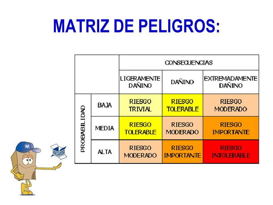MATRIZ DE PELIGROS: