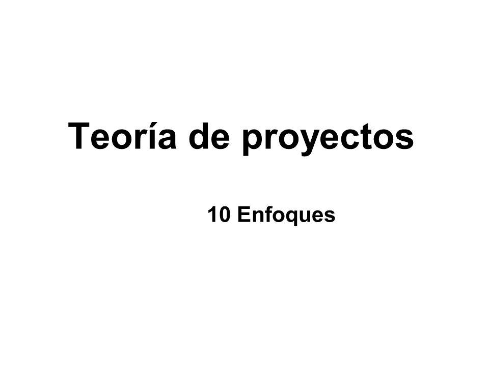 Un proyecto se sustenta en varias teorías Las teorías entran al proyecto por mirarlo desde perspectivas distintas.