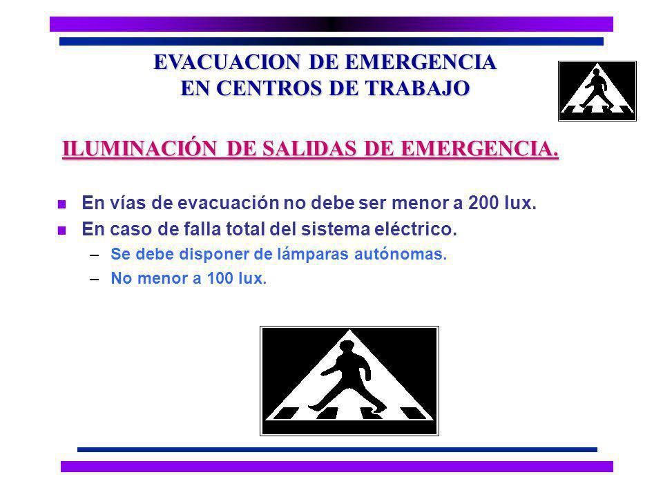 EVACUACION DE EMERGENCIA EN CENTROS DE TRABAJO n Conjunto de indicaciones que mediante una serie de estímulos condicionan, la actuación del individuo, frente a circunstancias especiales Peligros.