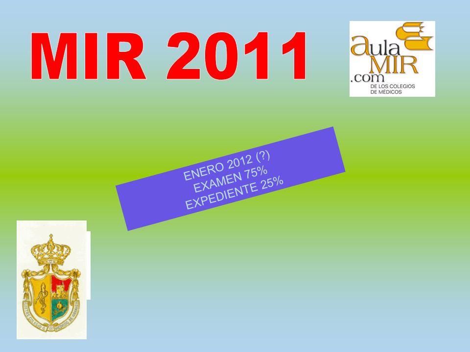 ENERO 2012 ( ) EXAMEN 75% EXPEDIENTE 25%