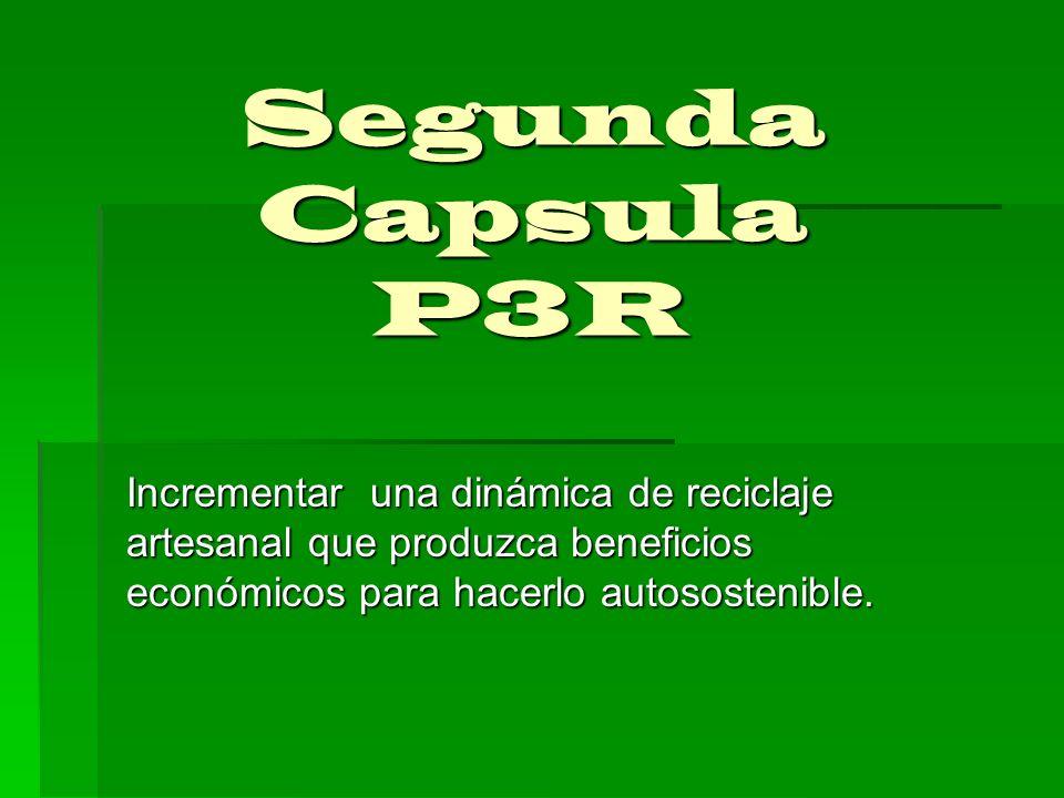 Slogan para lograr su legalización legitimidad y permanencia en la población Reactivemos el amor por la Tierra Reciclemos!!.