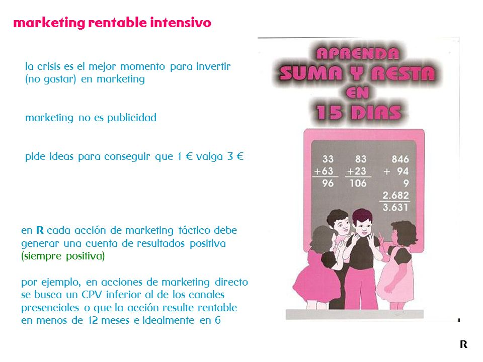 R marketing rentable intensivo la crisis es el mejor momento para invertir (no gastar) en marketing marketing no es publicidad pide ideas para consegu