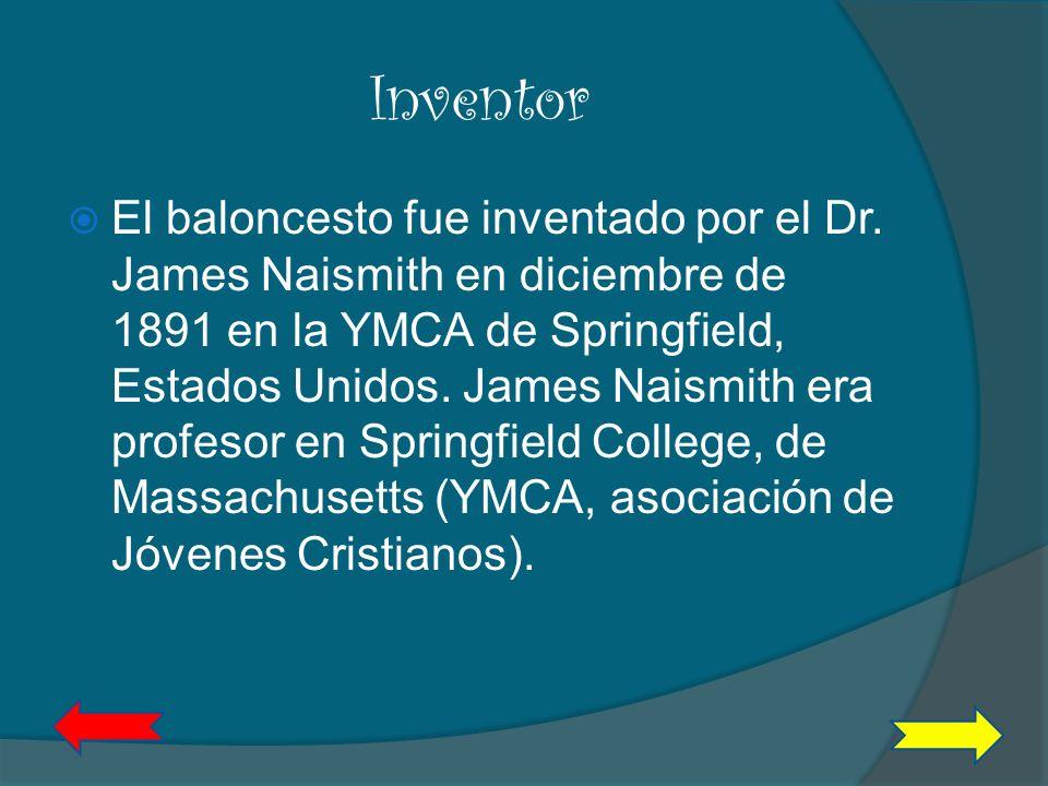 Inventor Dr. James Naismith Tomado de www.google.com (Imágenes)