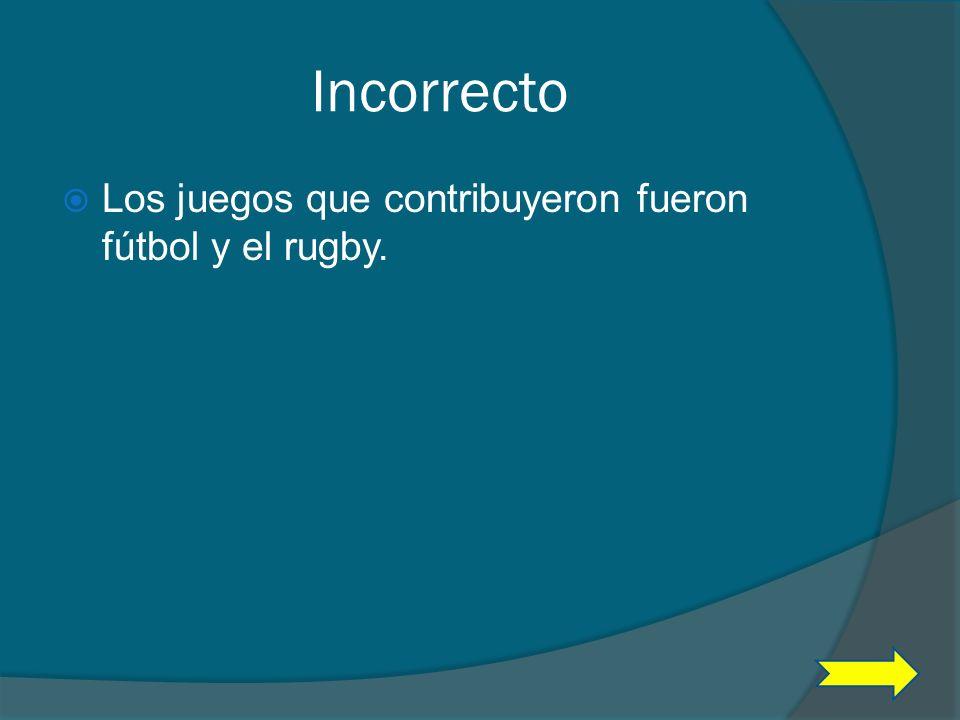 Pregunta #8 ¿De que juego se tomaron elementos para inventar el baloncesto? A Pelota B Volleibol B Volleibol C fútbol y el rugby D Soccer