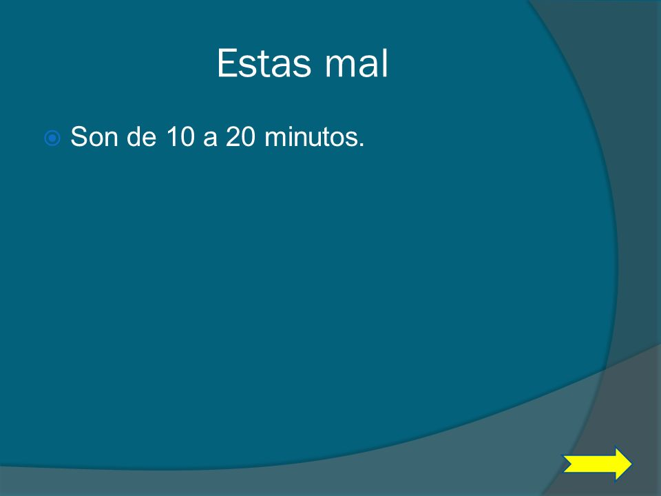 Pregunta #9 ¿Cuantos minutos dura el tiempo de descanso después de los primero dos parciales? A 20 a 10 B 10 a 15 C 10 a 20 D15 a 20