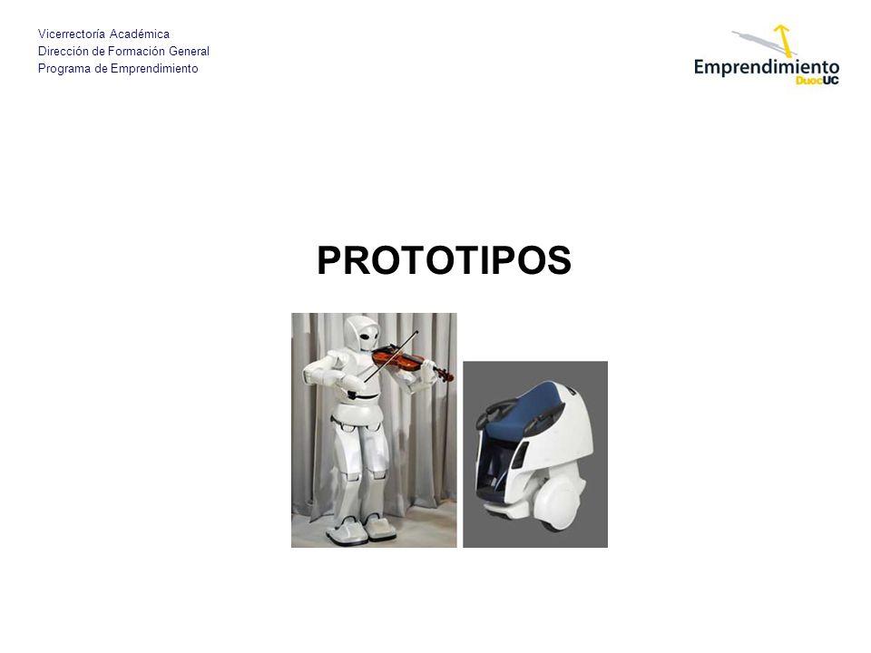Vicerrectoría Académica Dirección de Formación General Programa de Emprendimiento PROTOTIPOS