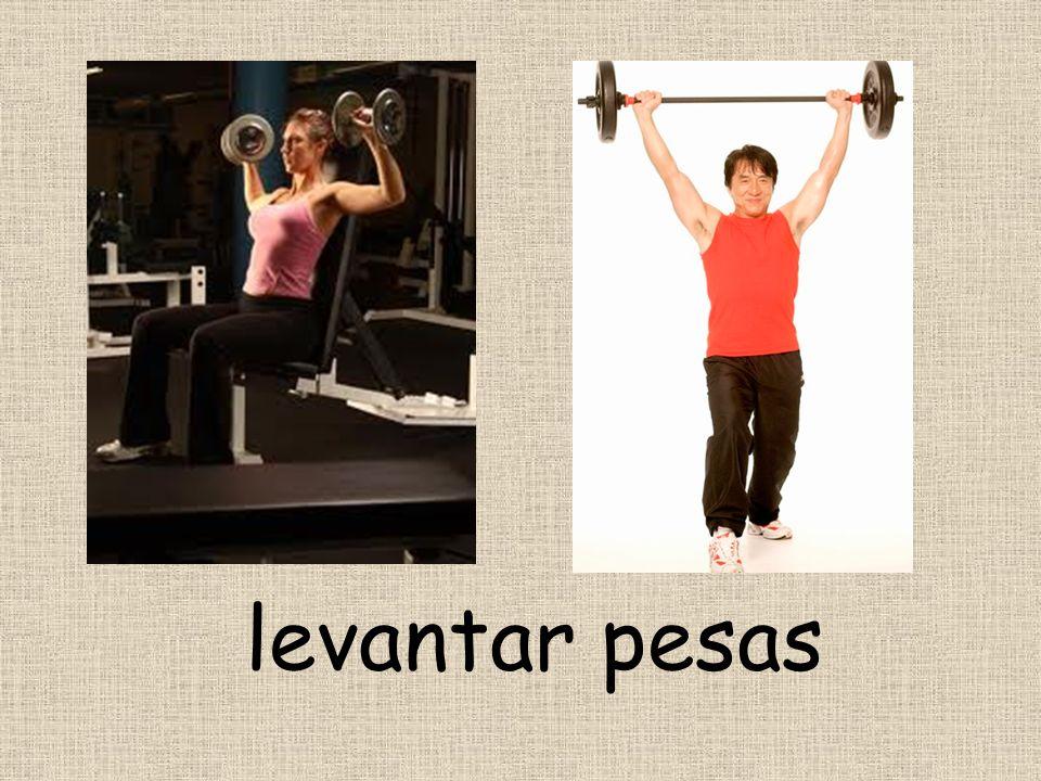 levantar pesas