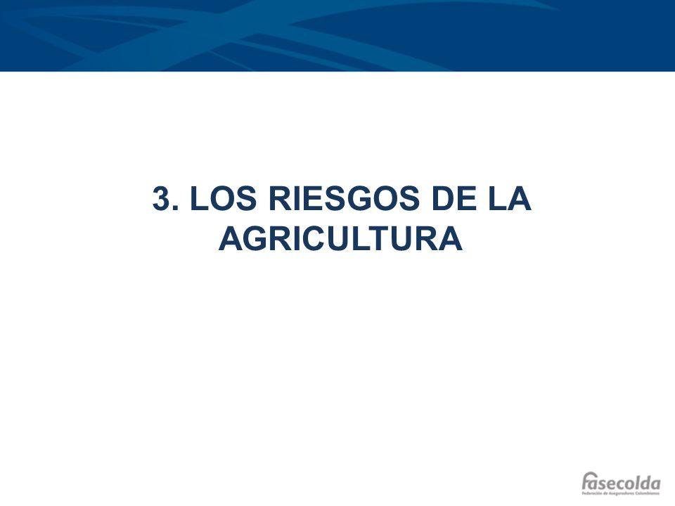 3. LOS RIESGOS DE LA AGRICULTURA