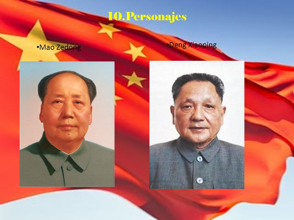 10.Personajes Mao Zedong Deng Xiaoping
