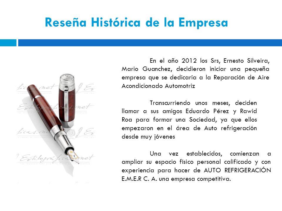 Reseña Histórica de la Empresa En el año 2012 los Srs, Ernesto Silveira, Mario Guanchez, decidieron iniciar una pequeña empresa que se dedicaría a la