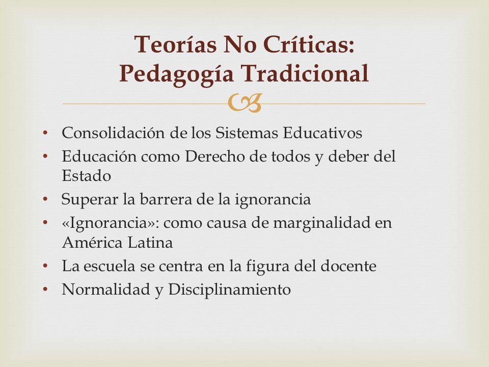 Consolidación de los Sistemas Educativos Educación como Derecho de todos y deber del Estado Superar la barrera de la ignorancia «Ignorancia»: como cau