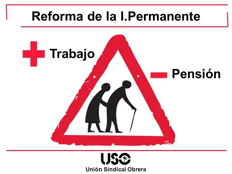 Unión Sindical Obrera Trabajo Pensión Reforma de la I.Permanente