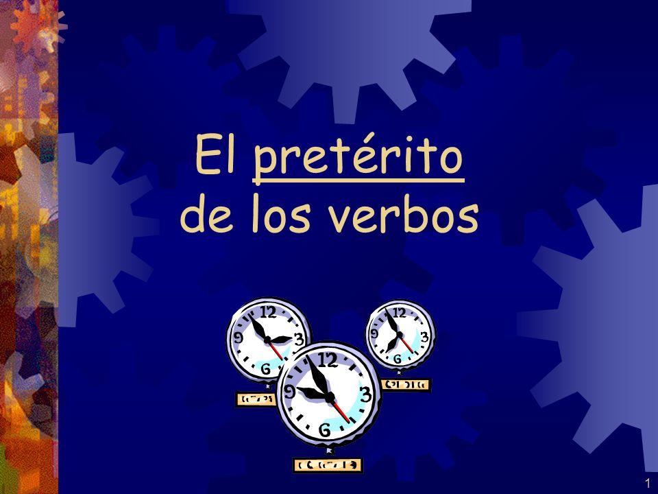 21 (-zar verbs) empecé empezaste empezó empezamos empezasteis empezaron Por ejemplo: empezar Lets do the clapper.