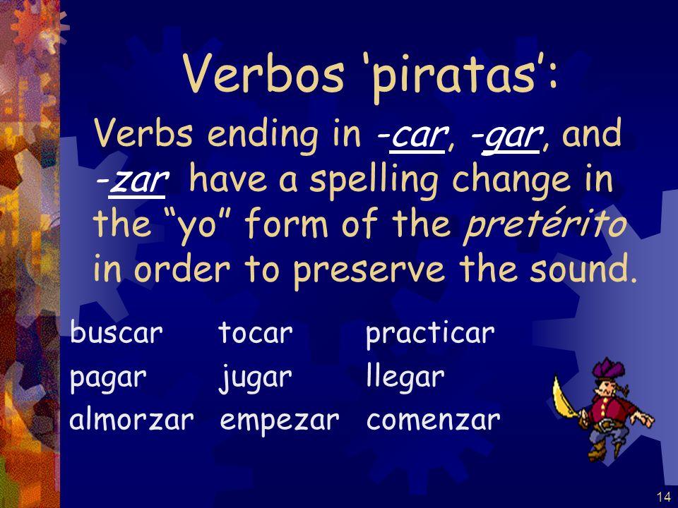 13 (-er / -ir verbs) escribí escribiste escribió escribimos escribisteis escribieron Por ejemplo: escribir Lets do the clapper.