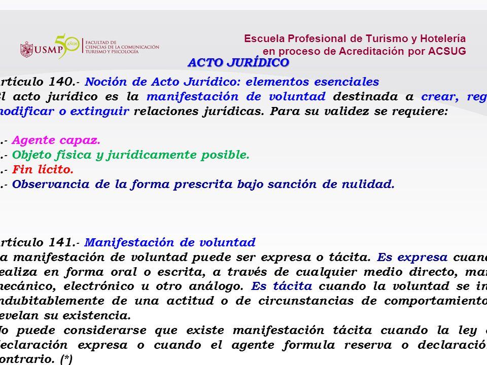 Escuela Profesional de Turismo y Hotelería en proceso de Acreditación por ACSUG Artículo 76.- Normas que rigen la persona jurídica La existencia, capa