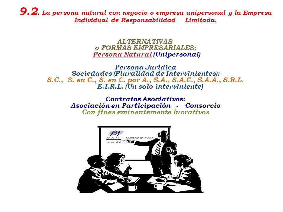Escuela Profesional de Turismo y Hotelería en proceso de Acreditación por ACSUG Unidad económica (producción, comercio de bienes y/o prestación de ser