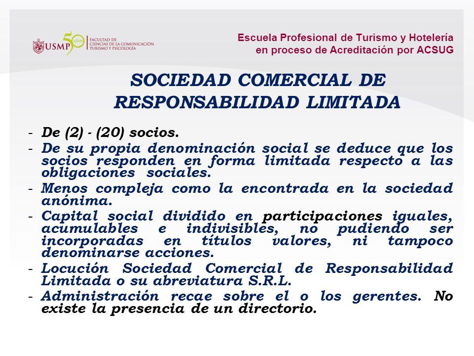 Escuela Profesional de Turismo y Hotelería en proceso de Acreditación por ACSUG oferta pública de acciones u obligaciones convertibles en accionesRegi