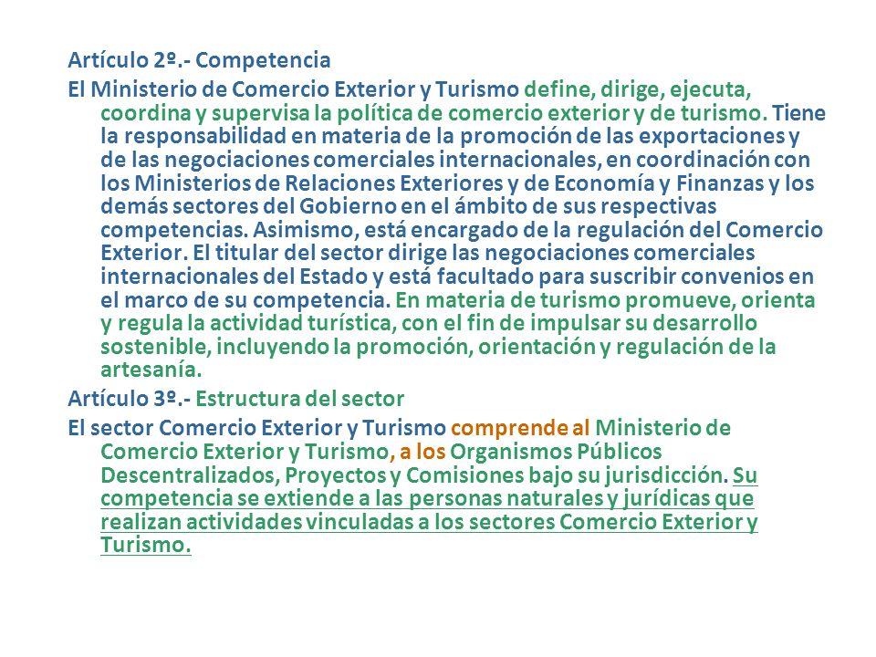 24/07/2002.- Ley Nº 27790.- Ley de Organización y Funciones del Ministerio de Comercio Exterior y Turismo. (25/07/2002) LEY Nº 27790 EL PRESIDENTE DE