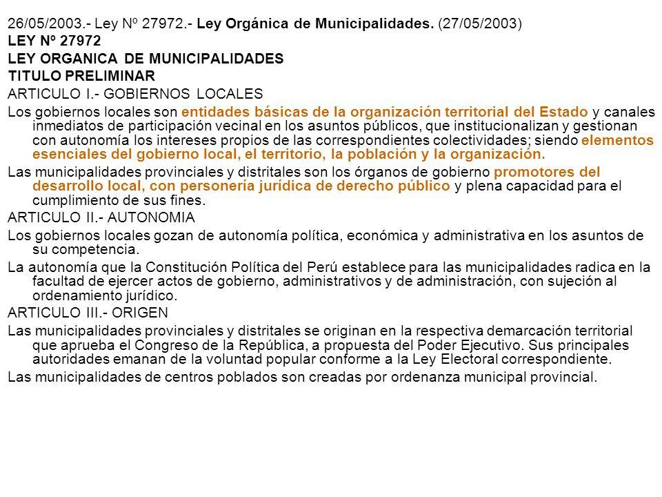 Artículo 2º.- Legitimidad y naturaleza jurídica Los Gobiernos Regionales emanan de la voluntad popular. Son personas jurídicas de derecho público, con
