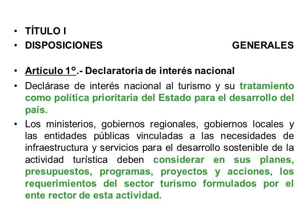 Escuela Profesional de Turismo y Hotelería en proceso de Acreditación por ACSUG Ley N°29408 LEY GENERAL DE TURISMO