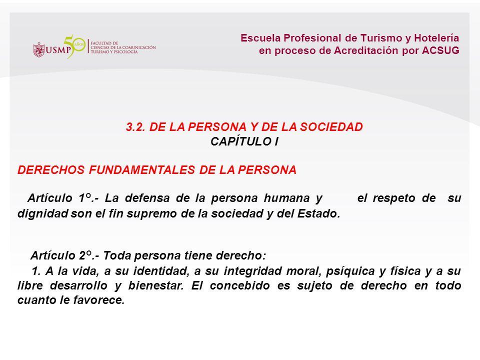 Escuela Profesional de Turismo y Hotelería en proceso de Acreditación por ACSUG El Estado de Derecho, presupone la limitación del Estado por acción de