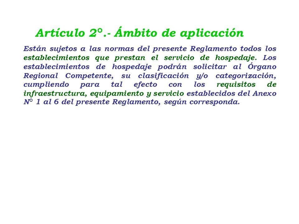Reglamento de Establecimiento de Hospedaje DECRETO SUPREMO N° 029-2004- MINCETUR.. 15.1 CAPITULO I : DISPOSICIONES GENERALES Artículo 1°.- Objeto El p