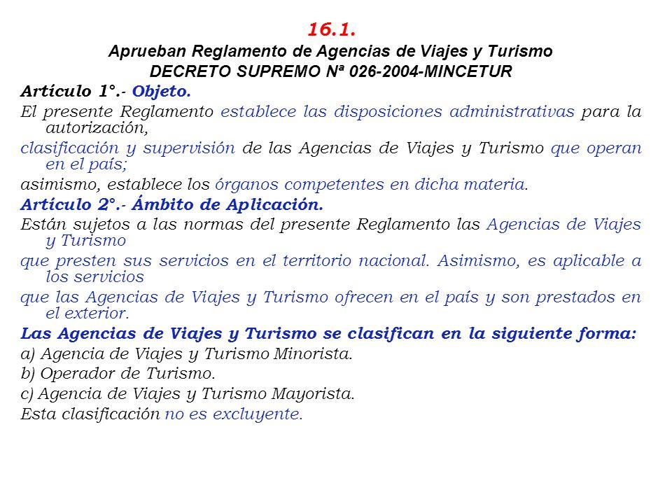 09/05/95.- R.D. Nº 0011-95-MITINCI/VMTINCI/DNT.-Establece requisitos que deberán cumplir los establecimientos que brindan servicio de alojamiento. (16