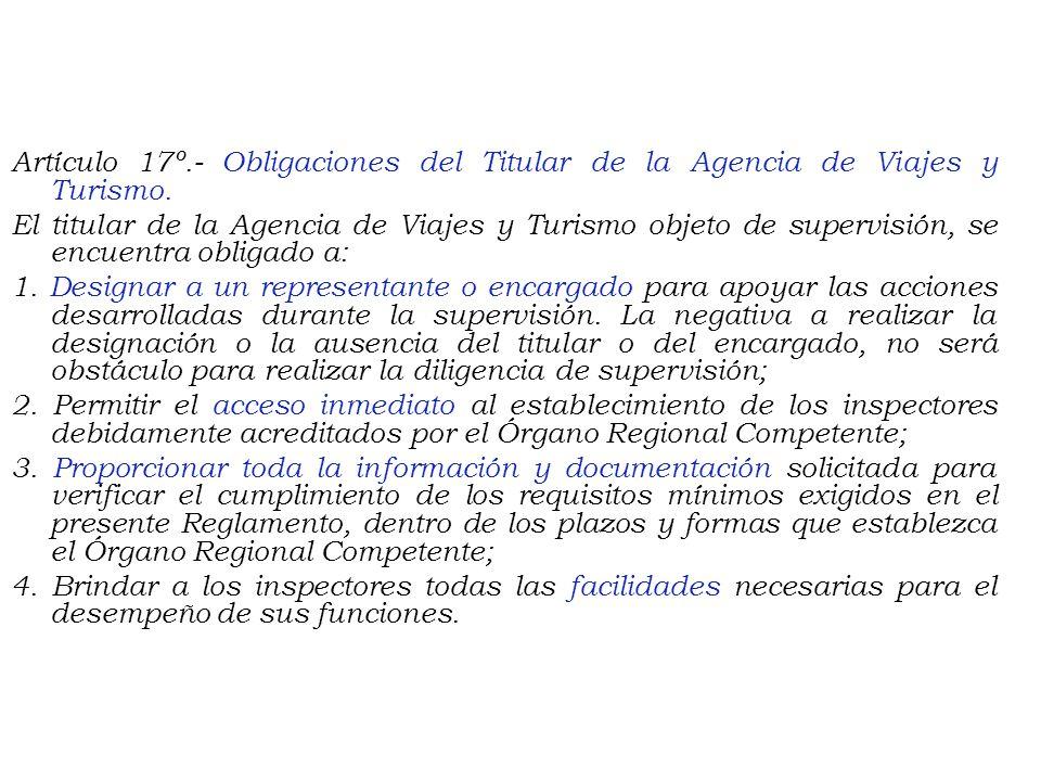 CAPÍTULO V DE LA SUPERVISIÓN Artículo 14º.- Visitas de supervisión. El Órgano Regional Competente tendrá la facultad de efectuar de oficio, a pedido d