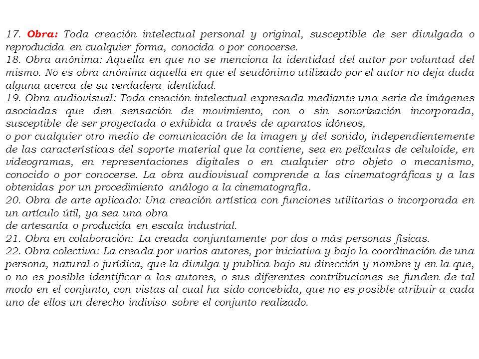 DECRETO LEGISLATIVO N° 822 LEY SOBRE EL DERECHO DE AUTOR TITULO PRELIMINAR Artículo 1º.- Las disposiciones de la presente ley tienen por objeto la pro